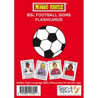 Let's Sign Early Years Football Flash Cards